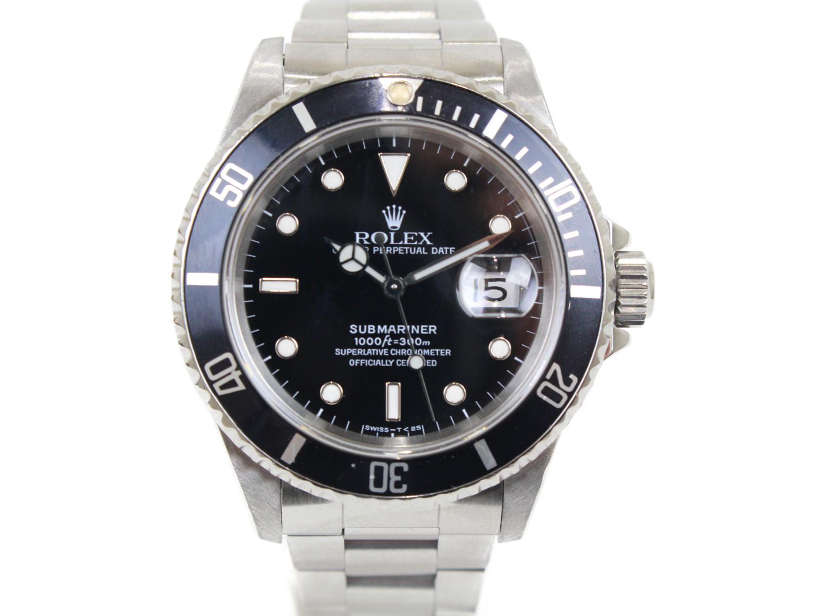 ROLEX ロレックス サブマリーナーデイト 16610 X番 自動巻き デイト SS ステンレススチール ブラック メンズ 腕時計【中古】