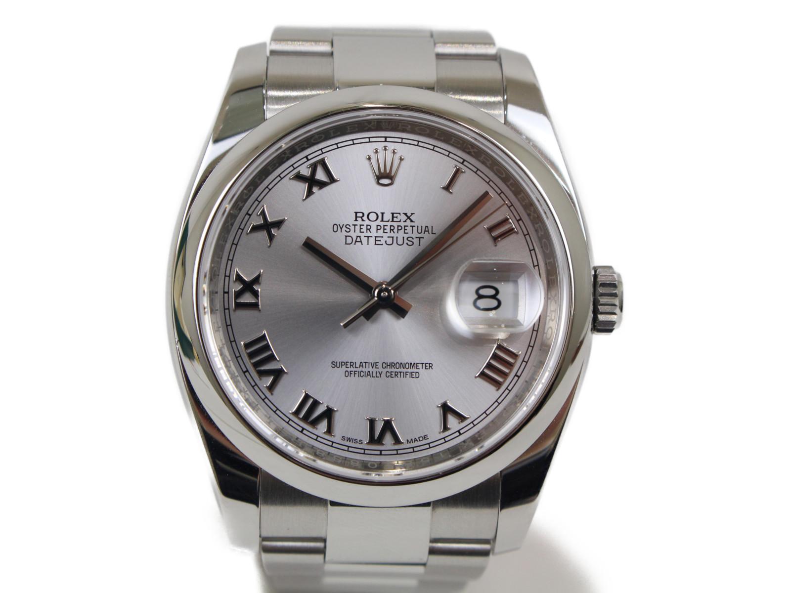 ROLEX ロレックス オイスターパーペチュアル 116200 ランダム 自動巻き デイト SS ステンレススチール シルバー メンズ 腕時計【中古】
