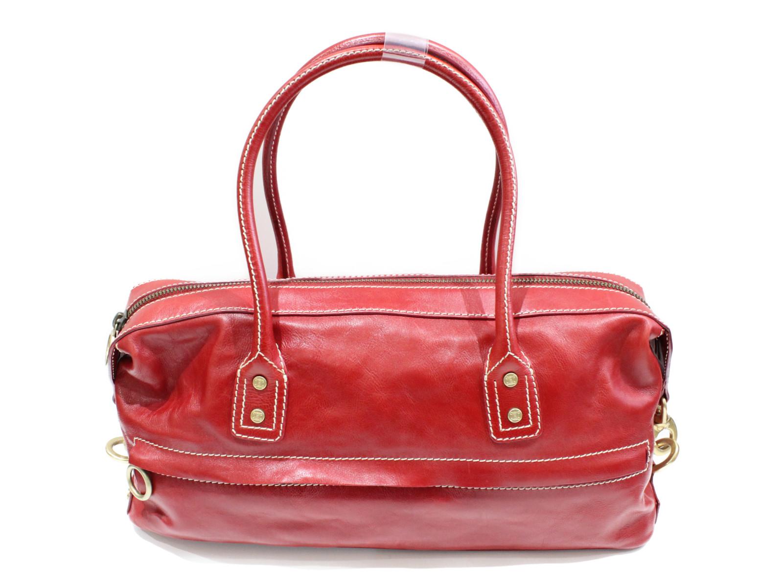 【CELINE(セリーヌ)】ハンドバッグ CE00/24レザー 赤オシャレ レディースプレゼント包装可  【中古】