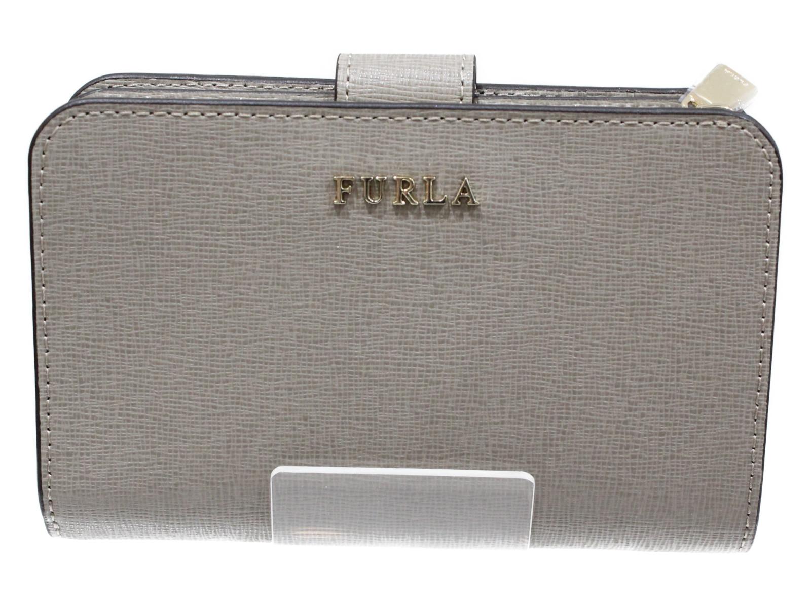 FURLA(フルラ)ジップアラウンドウォレット グレー小銭入れファスナー カワイイ プレゼント包装可【中古】