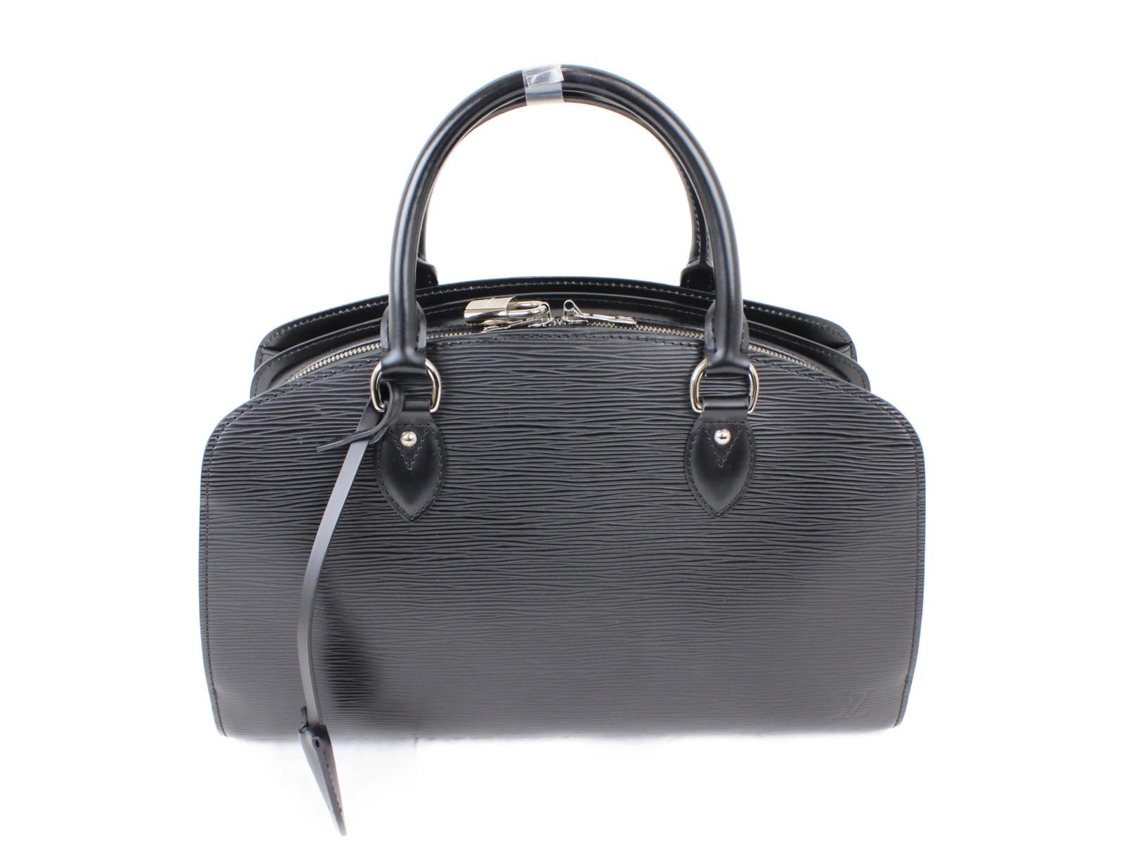 LOUIS VUITTON ルイヴィトンポンヌフPM M59072エピ レザーブラック ハンドバッグプレゼント包装可 【中古】