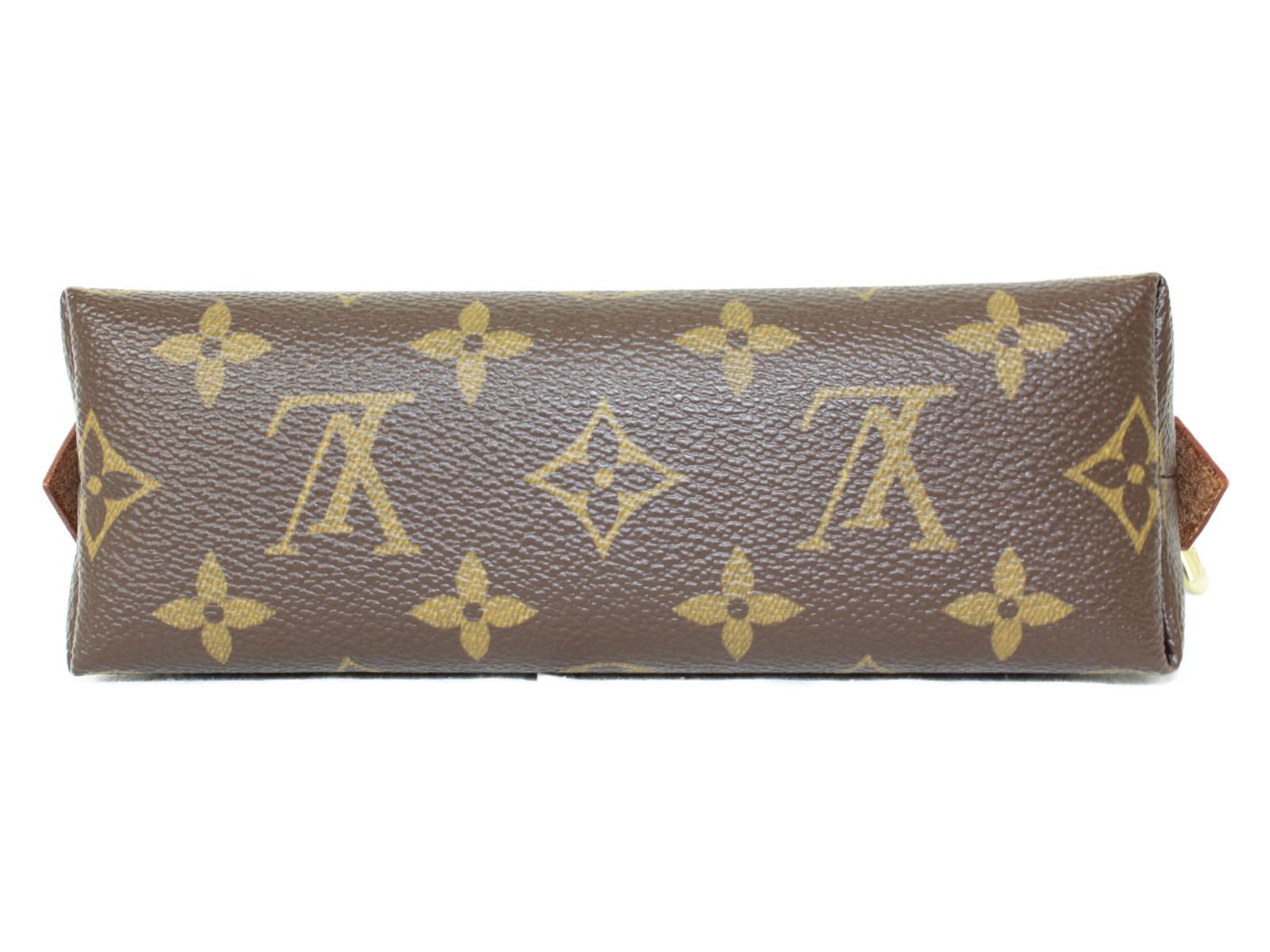 布袋有りLV ポシェット・コスメティック M47515 モノグラム ブラウン×ベージュ キャンバス レディース メイクポーチ プレゼント包装可OkZuPXiT