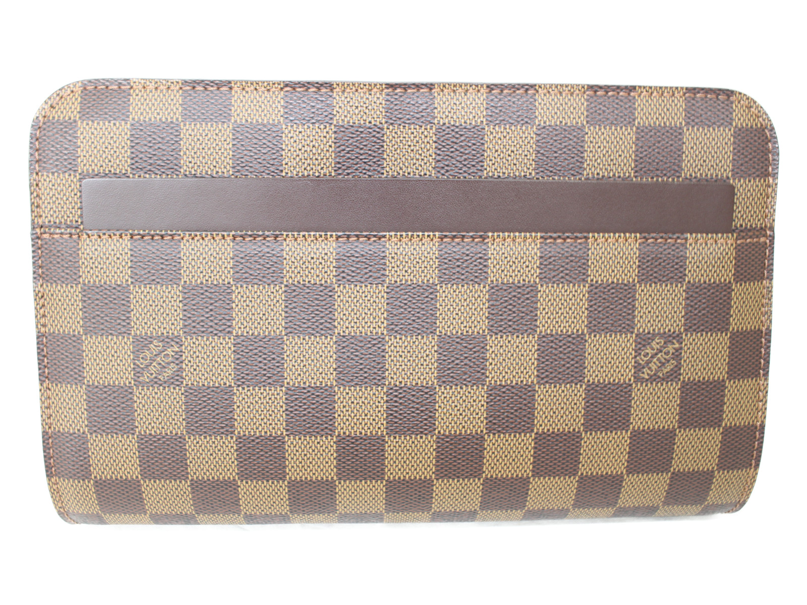 【布袋有り】 LV サンルイ N51993 ダミエ/ブラウン×ベージュ キャンバス レディース メンズ ユニセックス クラッチ プレゼント包装可