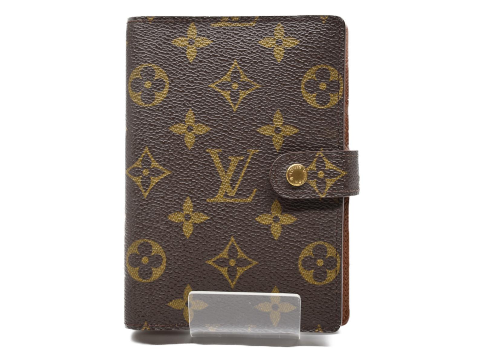 LOUIS VUITTON ルイヴィトン アジェンダPM R20005 モノグラム ダイアリー カード入れ ユニセックス プレゼント包装可 【中古】