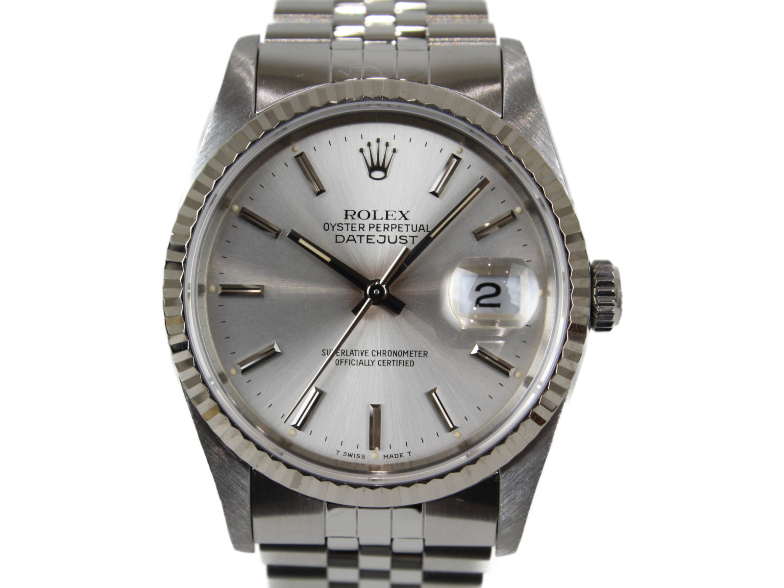 ROLEX ロレックス デイトジャスト/1990年製造 16234 E番 SS WG 自動巻き 腕時計 レディース メンズ ユニセックス ジュビリー 【中古】