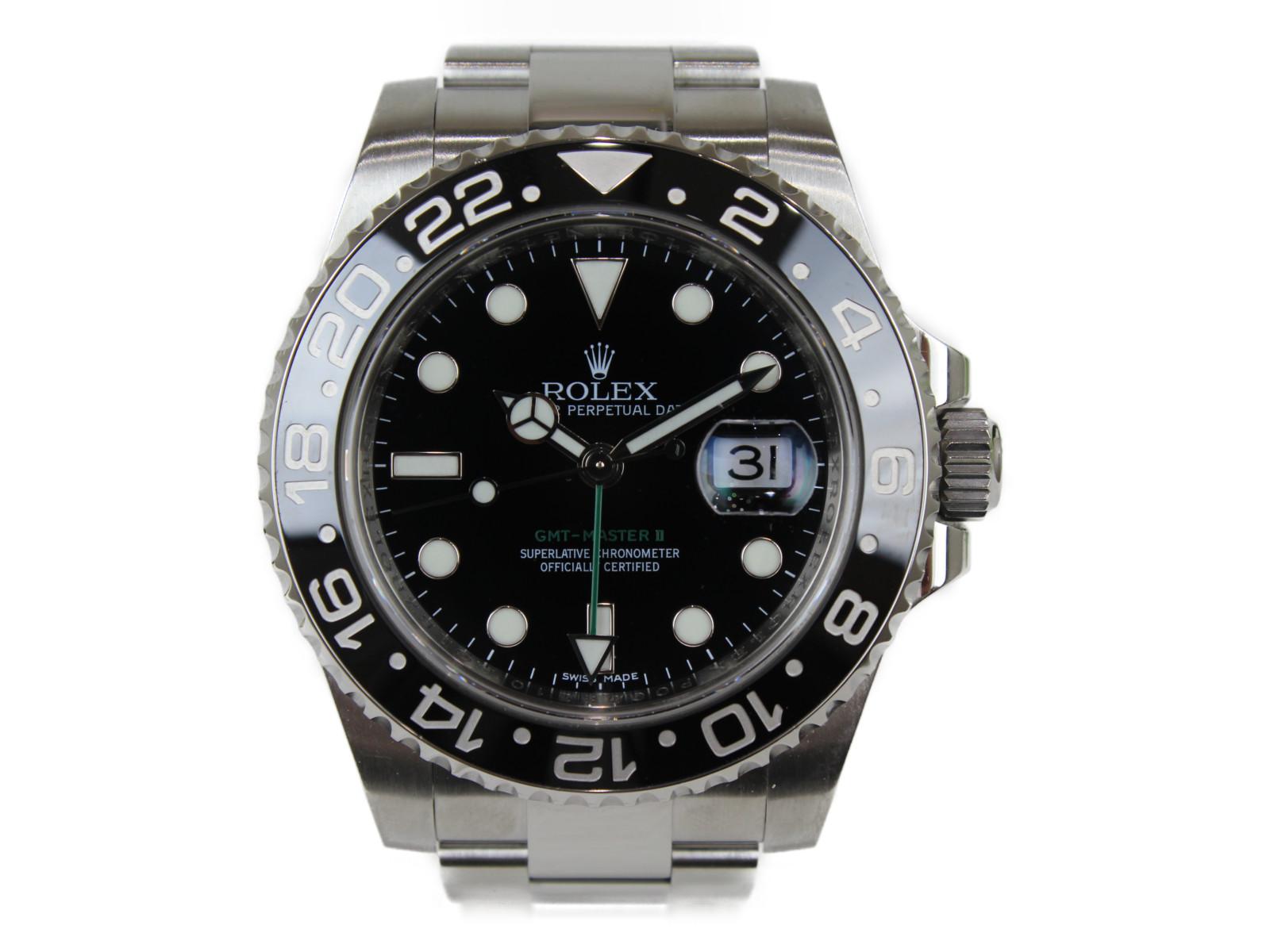 【箱あり】 ROLEX GMTマスター2 116710LN SS ステンレススチール 自動巻き 腕時計 メンズ レディース ユニセックス ブラックベゼル ランダム 【中古】