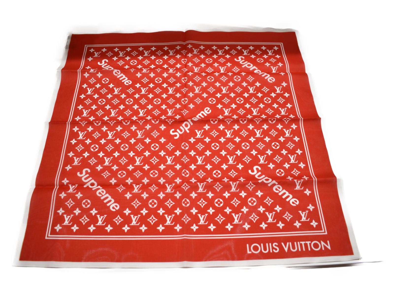 【☆中古未使用品☆】LOUIS VUITTONSupreme バンダナコラボ商品 小物プレゼント包装可