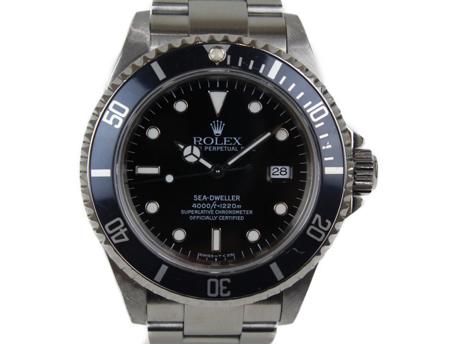 【箱あり】 ROLEX ロレックス シードゥエラー 16600 U番 SS ステンレススチール 自動巻き 腕時計 メンズ レディース ユニセックス 黒ベゼル【中古】