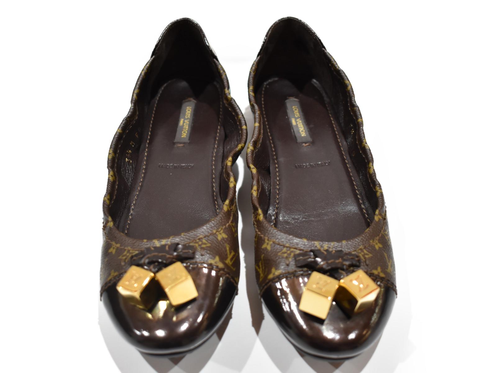 【箱・布袋あり】LOUIS VUITTON モノグラムローファー FA0170 パンプス シューズ 靴 ブラウン系 レディース ユニセックス 【中古】