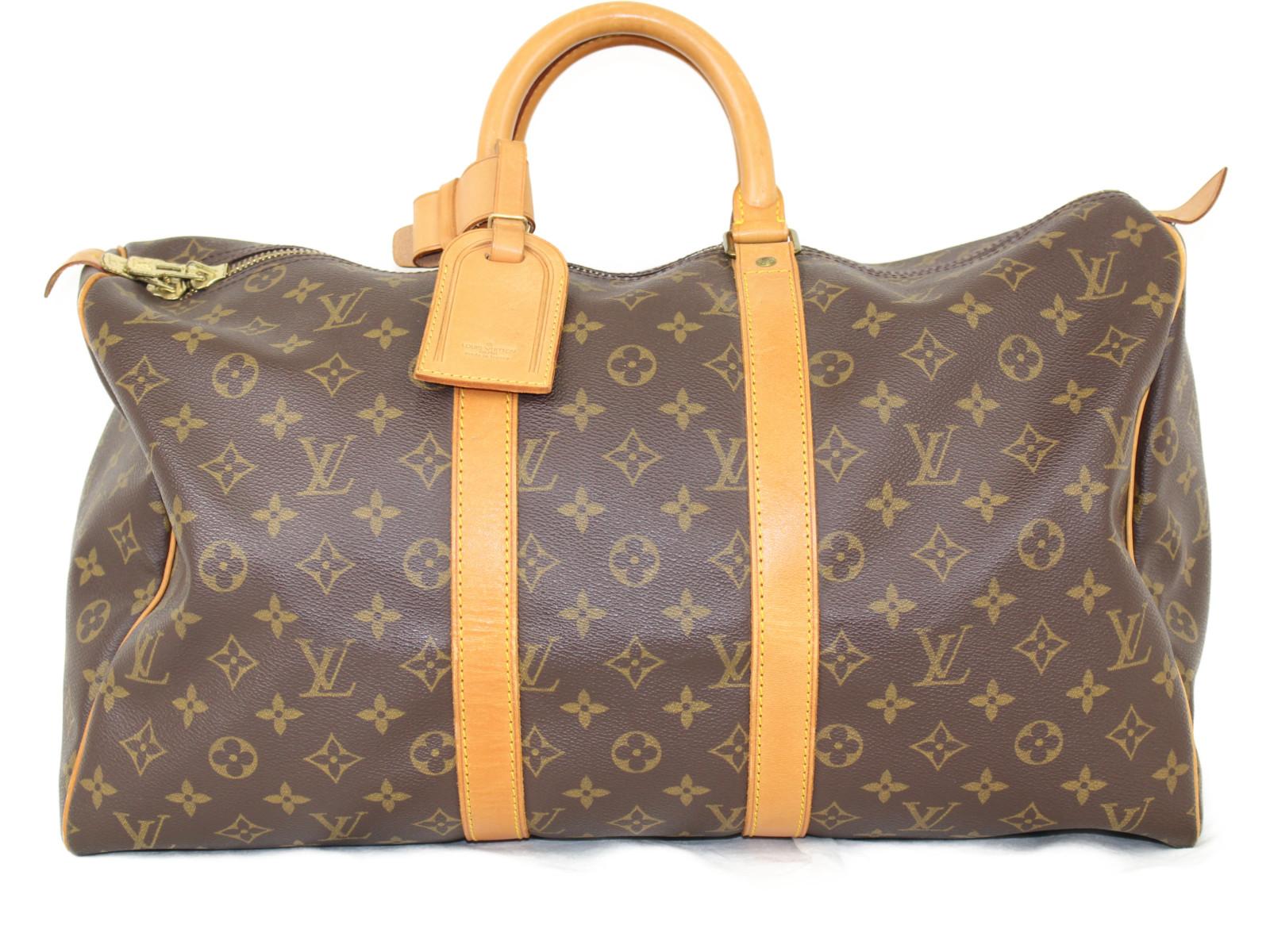 LOUIS VITTON ルイヴィトン キーポル45 M41428 モノグラム/ブラウン×ベージュ キャンバス レディース メンズ ユニセックス 旅行バッグ