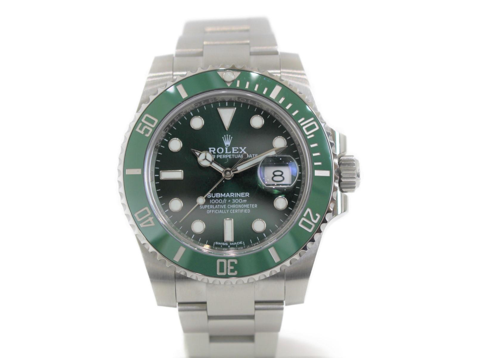 【ギャラあり】ROLEX サブマリーナーデイト 116610LV グリーンサブ 緑サブ ランダム SS ステンレススチール 自動巻きグリーン メンズ ウィメンズ 腕時計【中古】