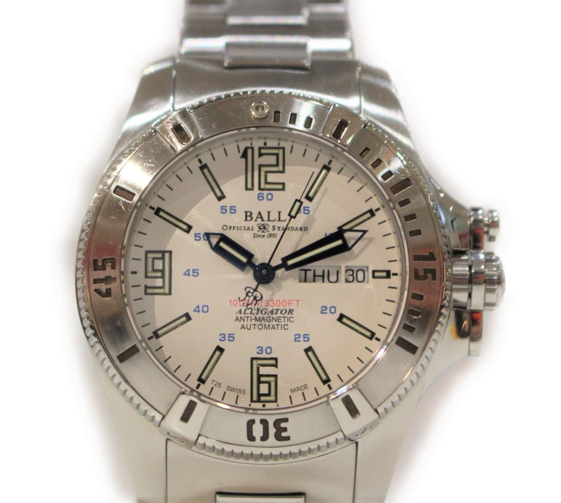 BALL エンジニア・ハイドロカーボン アリゲーター 世界限定1000本 DM1026A  SS ステンレススチール 自動巻きシルバー メンズ ウィメンズ 腕時計【中古】