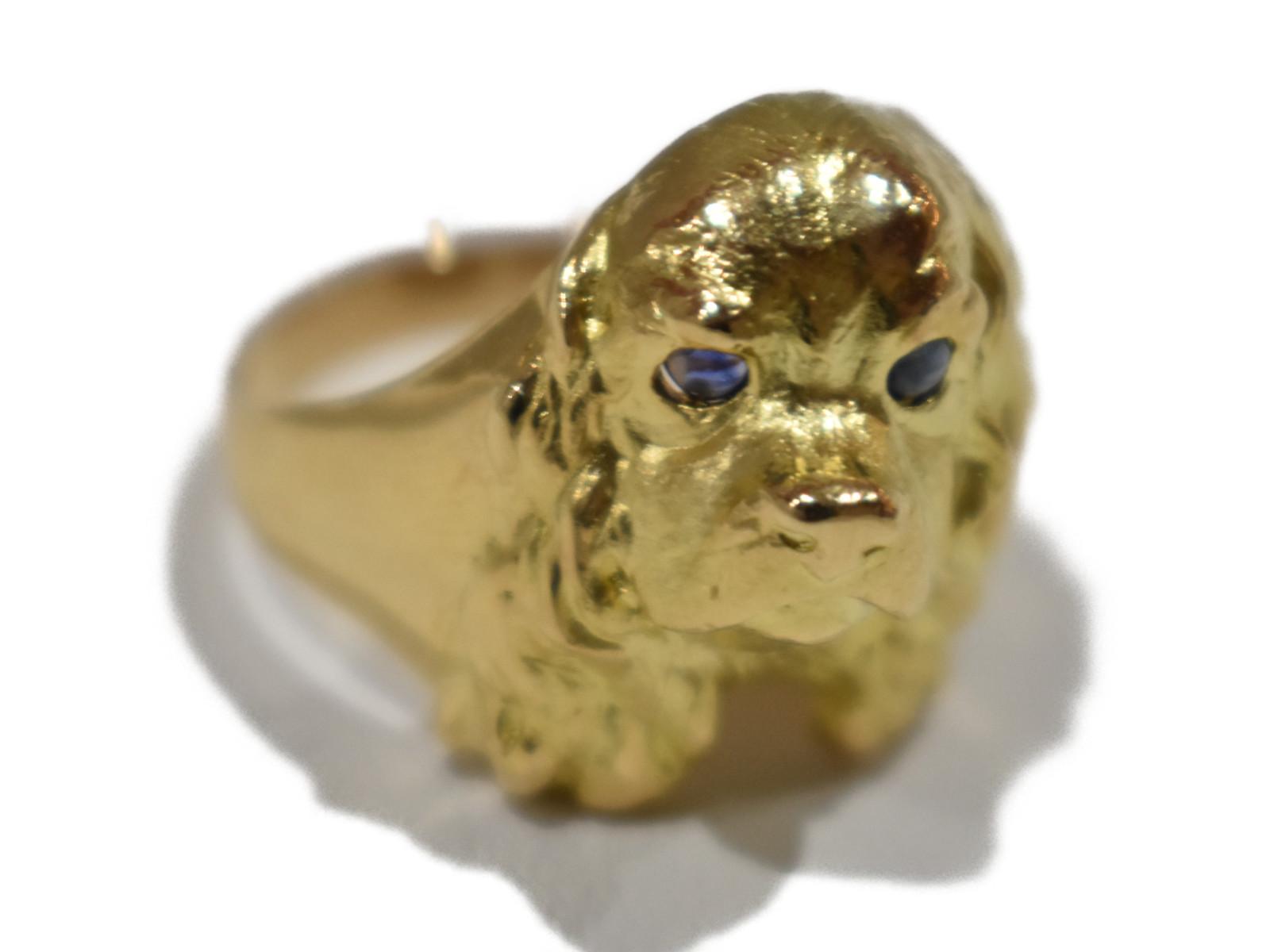 【ラッピング可】  K18 ゴールデンレトリバーリング   ゴールド K18 8.7gレディース メンズ  ゴージャス