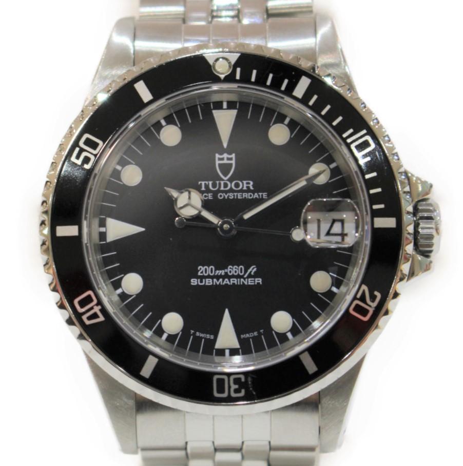 TUDOR サブマリーナーデイト 79190  ステンレススチール SS 自動巻き ブラック アンティーク デイト ダイバーウォッチ メンズ ウィメンズ ボーイズ チュードル 腕時計 【中古】