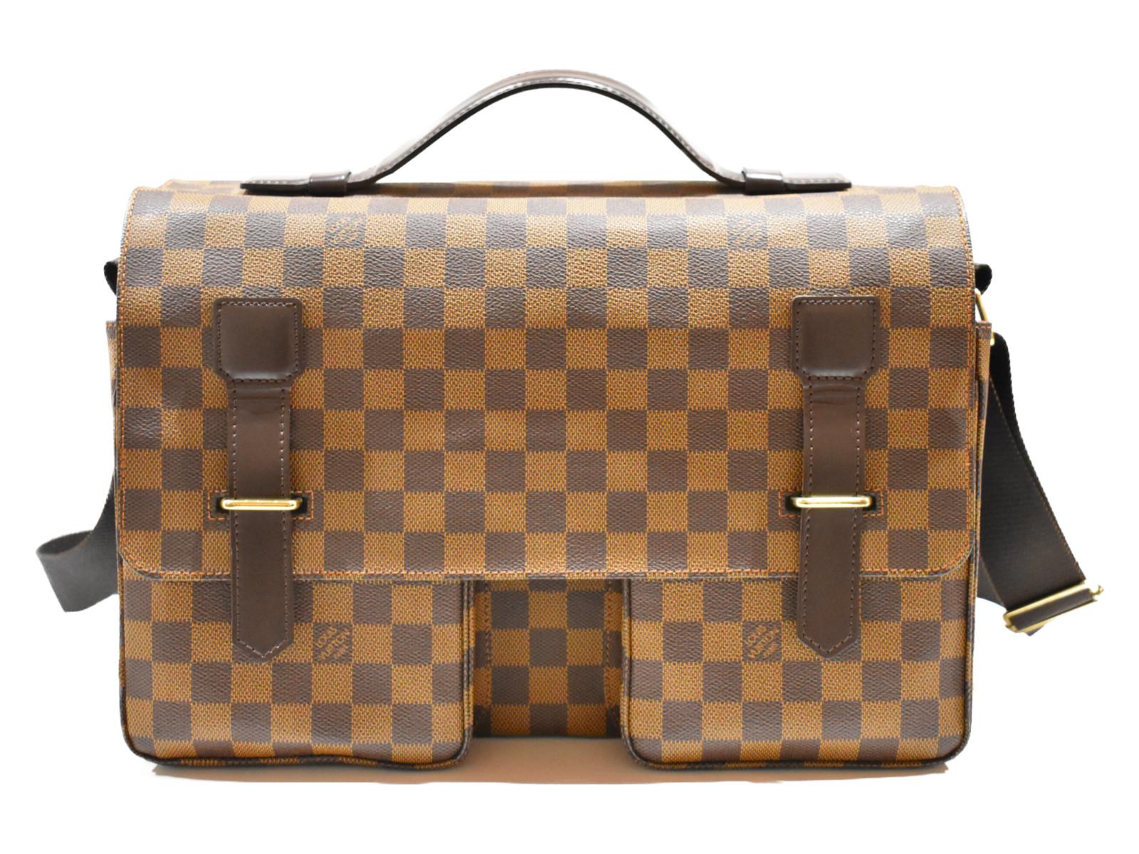 LOUIS VUITTON ブロードウェイ N42270 ダミエ ショルダーバッグ メンズ シンプル プレゼント包装可 【中古】