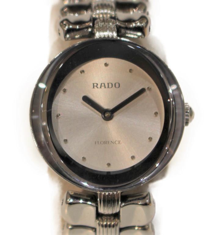 RADO フローレンス 322.3764.4  ステンレススチール SS クォーツ シルバー×12Pダイヤモンド シンプル レディース ウィメンズ プレゼント 腕時計 【中古】