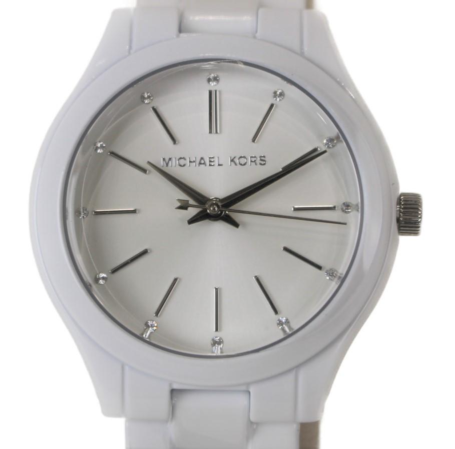 MICHAEL KORS クォーツ腕時計 MK3908  ステンレススチール SS メッキ クォーツ シルバー シンプル レディース ウィメンズ プレゼント 腕時計 【中古】