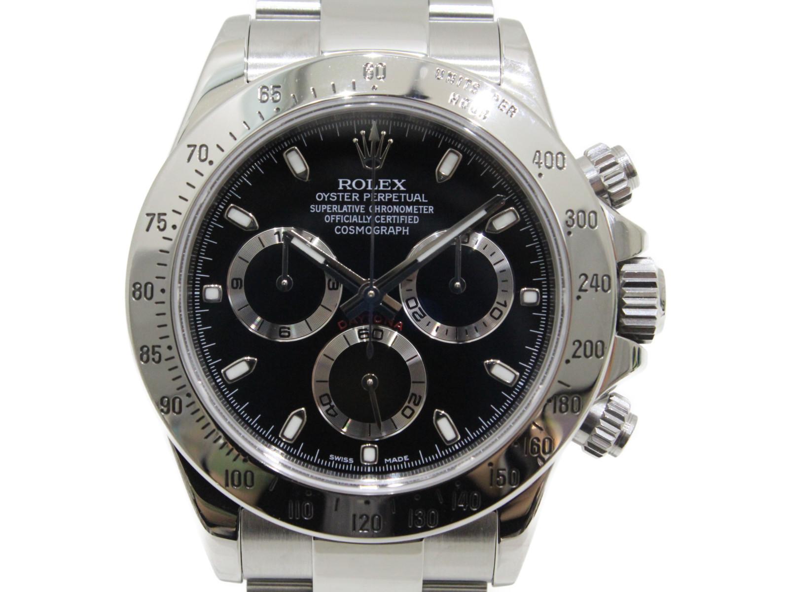 【OH済み】ROLEX ロレックス デイトナ 116520 G番 2012年ギャラ クロノグラフ ブラック SS ステンレススチール メンズ 腕時計【中古】