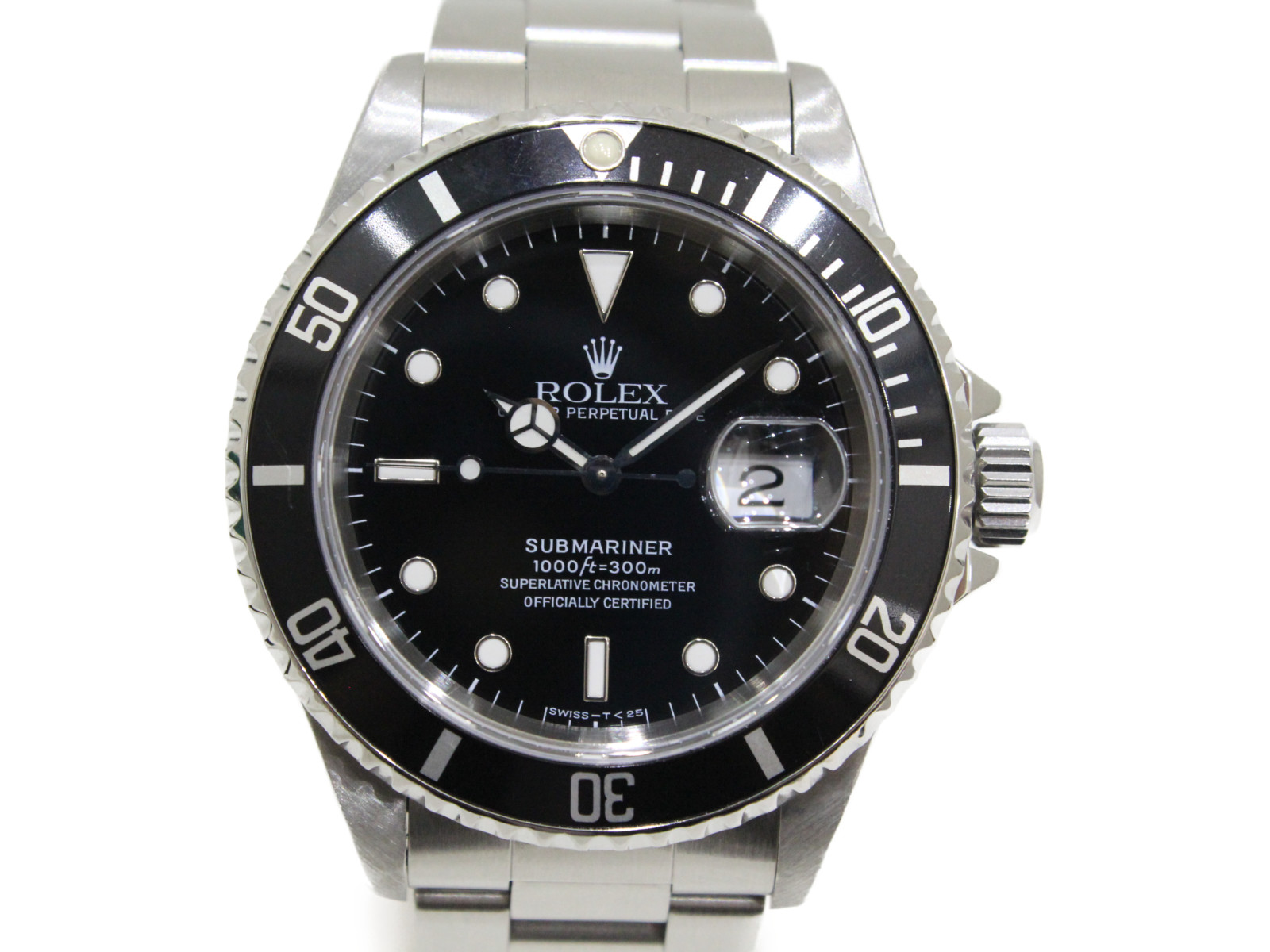 【OH済み】ROLEX ロレックス サブマリーナーデイト 16610 T番 1996年頃 自動巻き SS ステンレススチール ブラック メンズ 腕時計【中古】