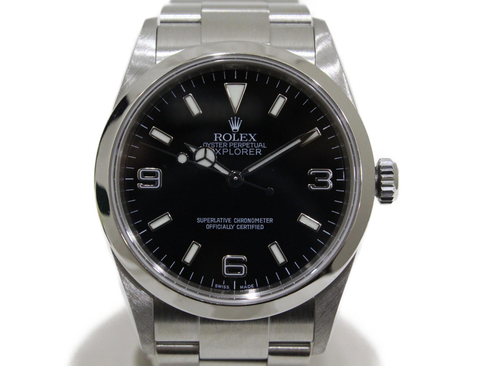 【OH済み】ROLEX ロレックス エクスプローラーI 114270 M番 2007年頃製造 自動巻き SS ステンレススチール ブラック メンズ 腕時計【中古】