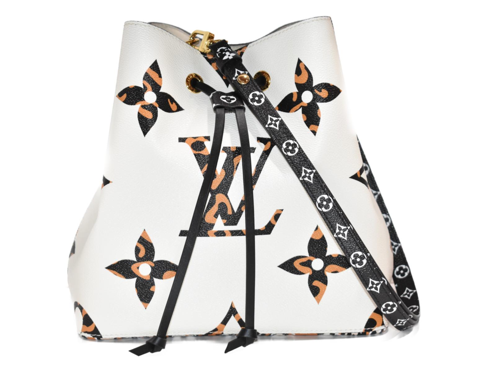 【箱有り☆】LOUISVUITTONネオノエ M44679 モノグラム ジャングル コーティングキャンバス レディース メンズ ユニセックス 巾着バッグ ショルダーバッグ 2WAYバッグ プレゼント包装可  【中古】