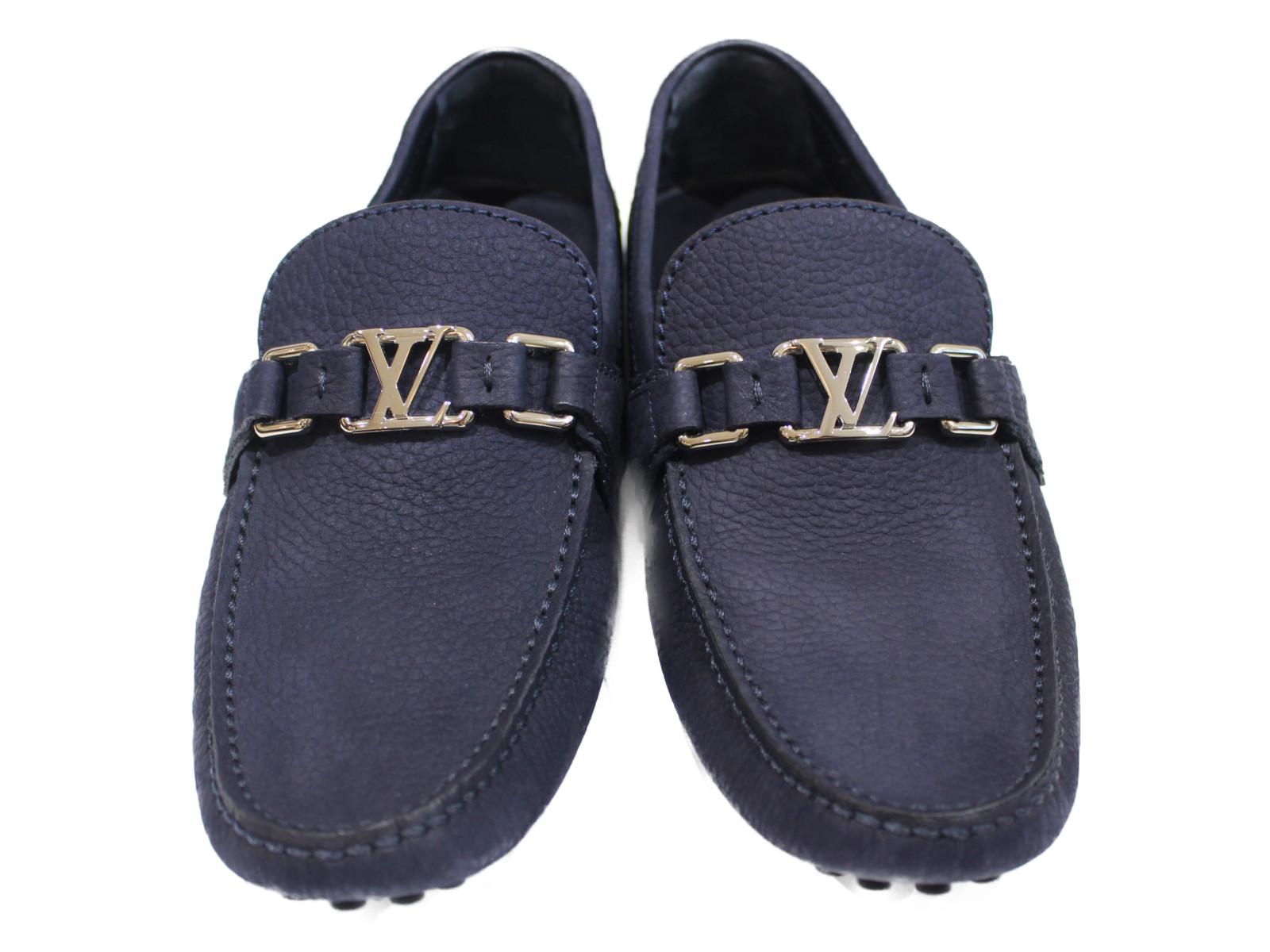 【箱・布袋あり】 LOUIS VUITTON ホッケンハイム・ライン 1A4TWY Mサイズ 靴 ローファー メンズ シルバー金具 プレゼント包装可 【中古】