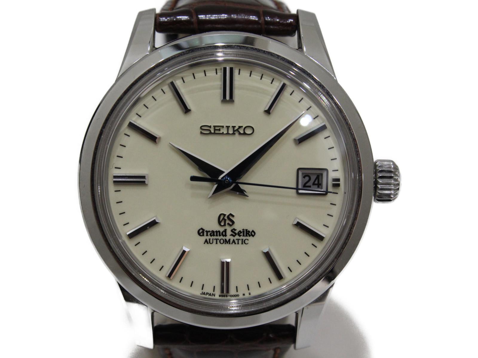 Grand Seiko グランドセイコー メカニカル SBGR061 自動巻き デイト SS ステンレススチール 革ベルト アイボリー メンズ 腕時計【中古】