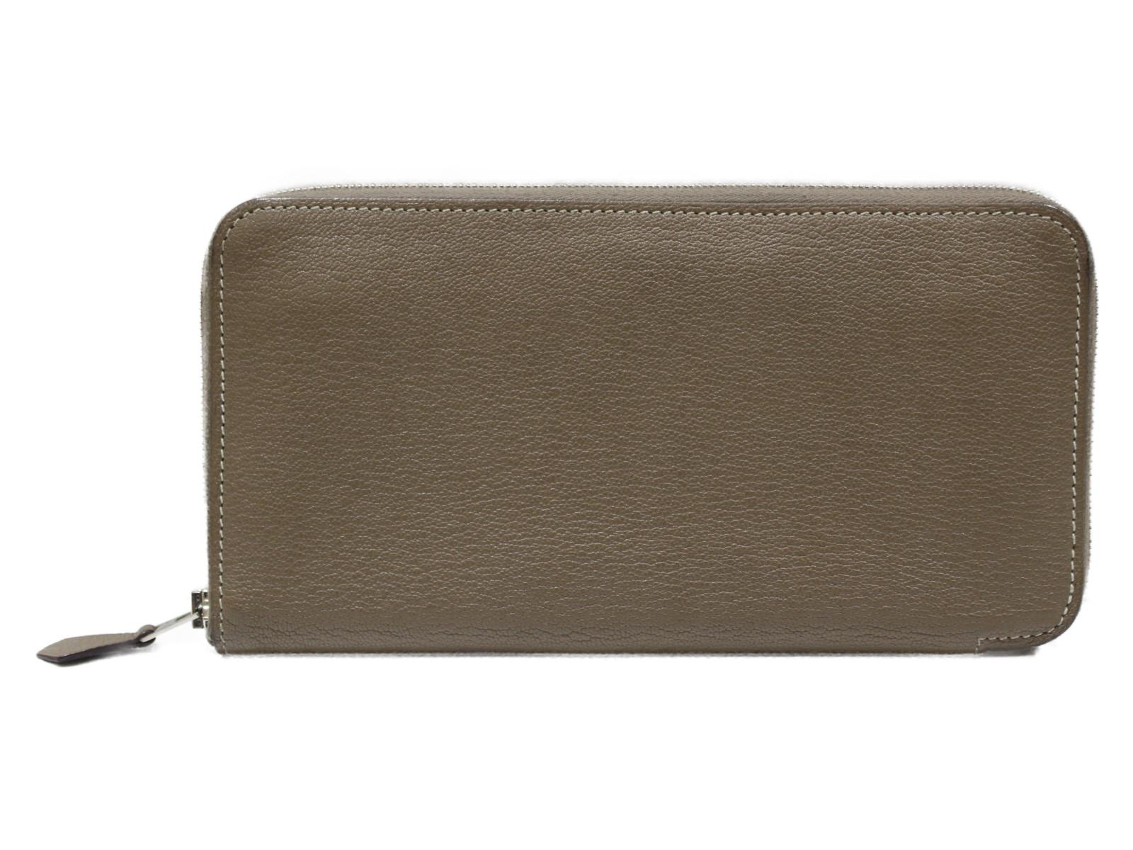 【箱あり】HERMES アザップロング ベージュ系 2015年製造 レディース メンズ 長財布 ウォレット シンプル プレゼント包装可 【中古】
