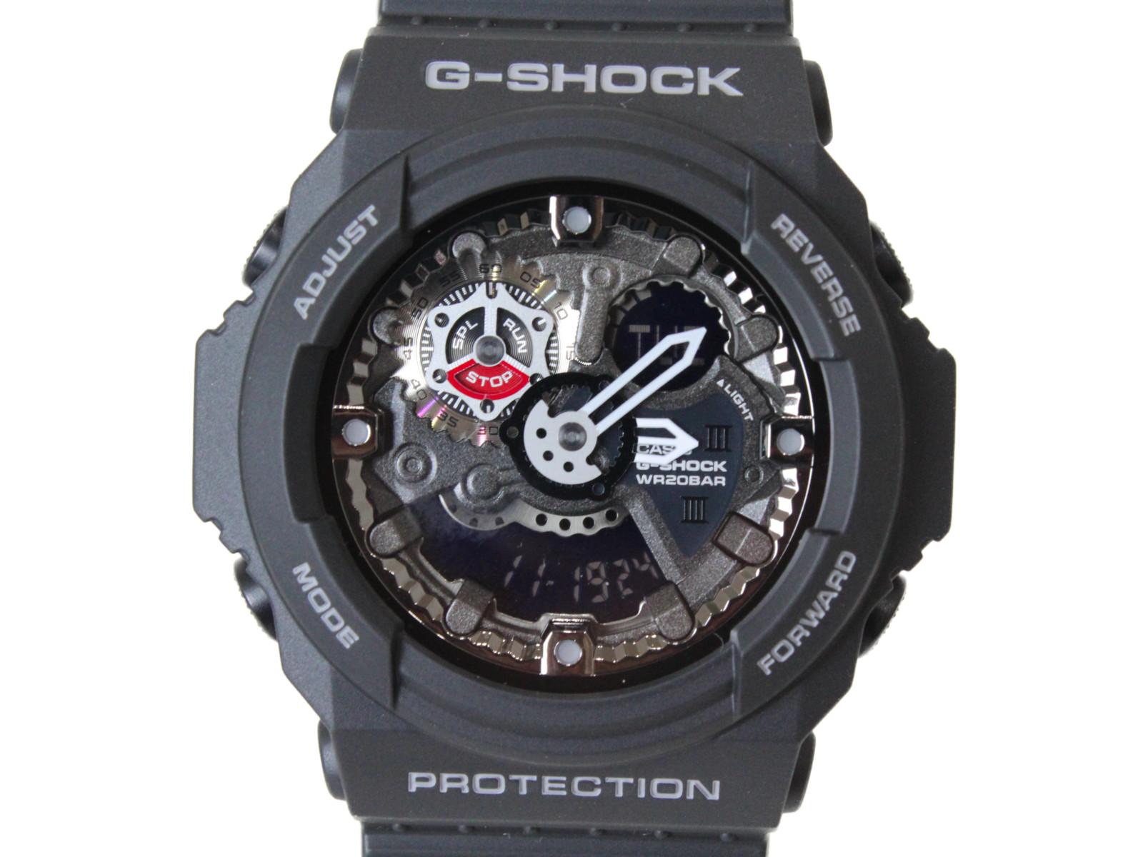 CASIO カシオ G-SHOCK ベーシック GA-300-1AJF クオーツ アナログ デジタル ラバー ブラック メンズ 腕時計【中古】