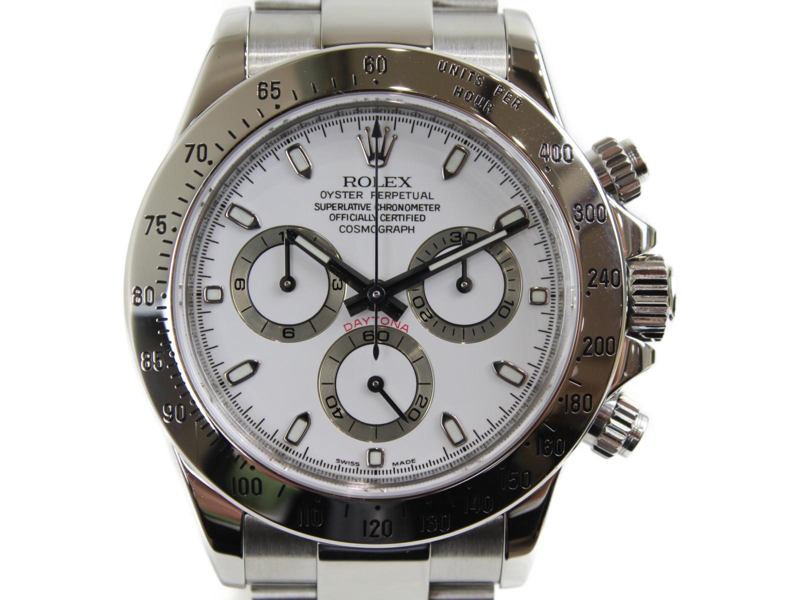【OH済み】ROLEX ロレックス デイトナ クロノグラフ 116520 自動巻き Z番 SS ステンレススチール 白 メンズ 腕時計【中古】