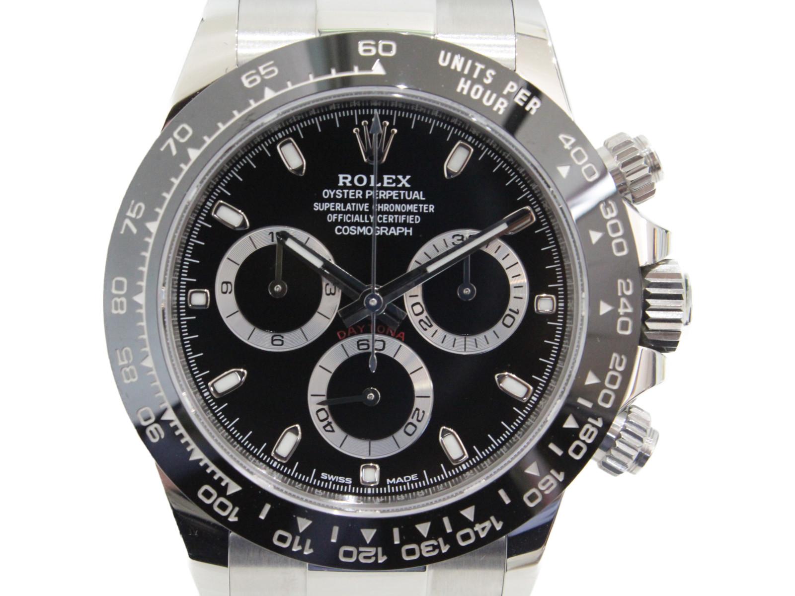 【ポリッシュ済み】ROLEX ロレックス コスモグラフ デイトナ クロノグラフ 116500LN 自動巻き ランダム 2017年 SS ステンレススチール ブラック メンズ 腕時計【中古】