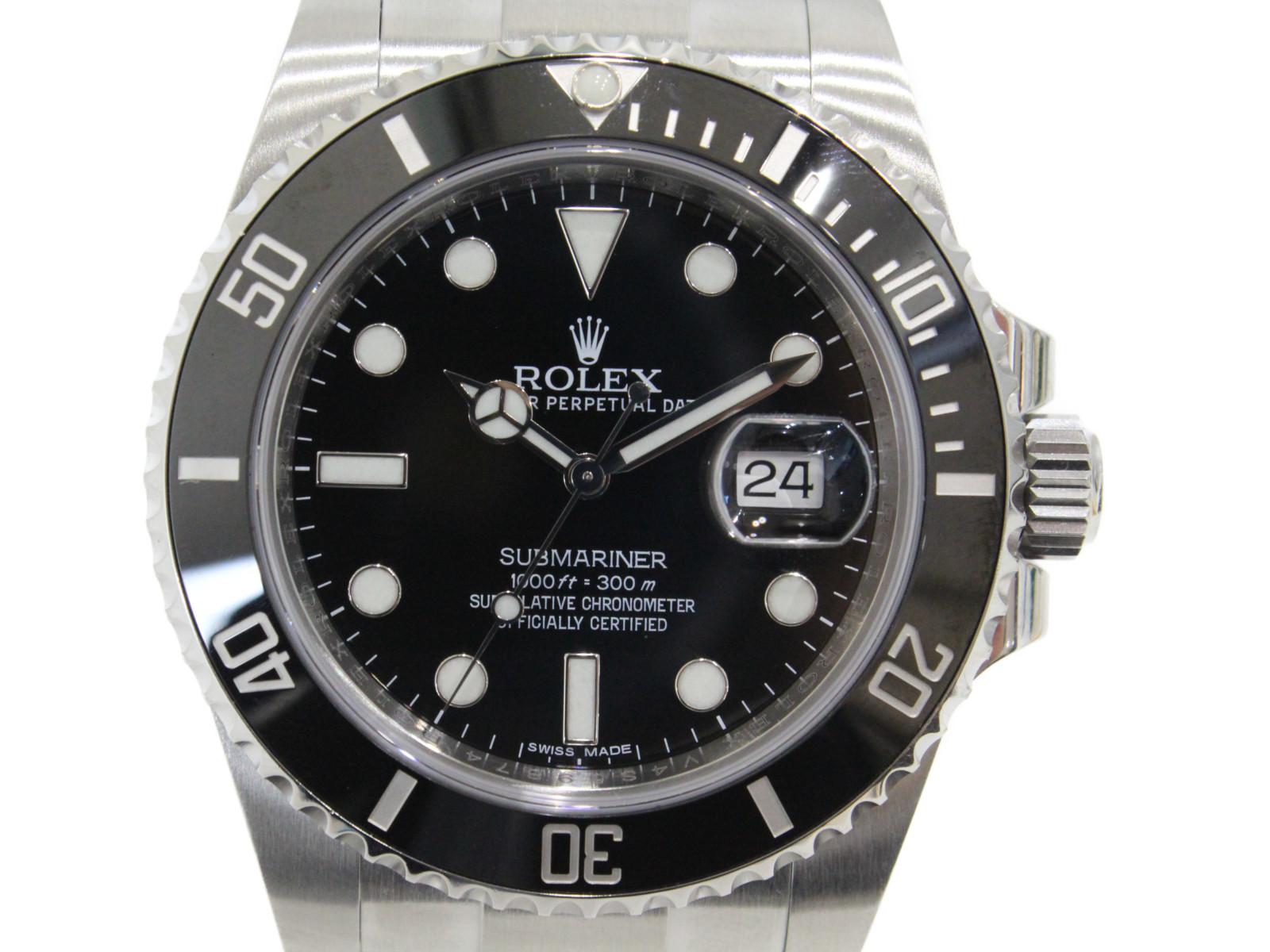【OH済み】ROLEX ロレックス サブマリーナーデイト 116610LN 自動巻き ランダム 2015年 SS ステンレススチール ブラック メンズ 腕時計【中古】