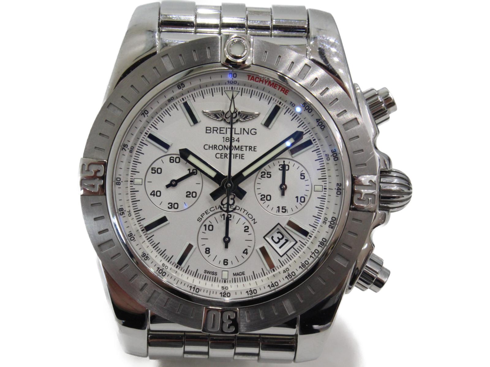 BREITLING ブライトリング クロノマット JSP クロノグラフ AB011511/G829 自動巻き SS ステンレススチール ホライト メンズ 腕時計【中古】
