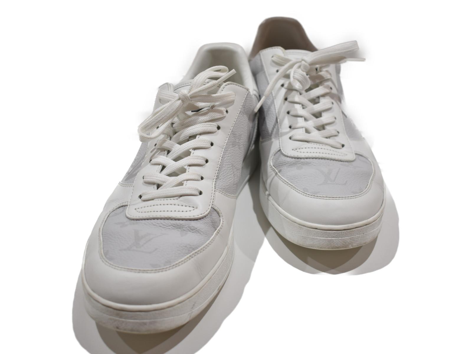 【中古品★】 LOUISVUITTONリヴォリ・ライン スニーカー 1A5HW6 ホワイト   スニーカー 靴 ホワイト ユニセックス 人気 中古  【中古】