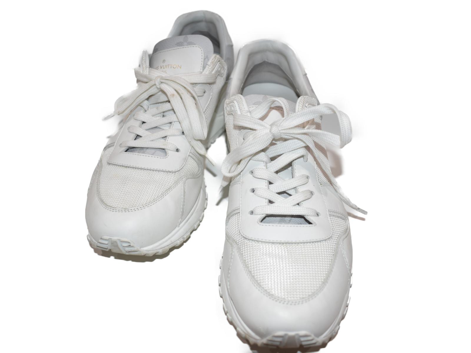 【中古品★】 LOUISVUITTONランアウェイ・スニーカー 1A5AXS ホワイト   スニーカー 靴 ホワイト 人気 中古  【中古】