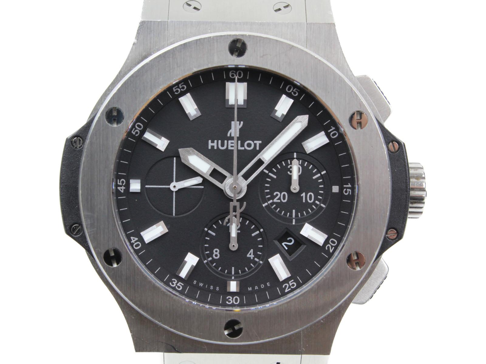 HUBLOT ウブロ ビッグバン エボリューション 301.SX.1170.RX 自動巻き クロノグラフ デイト ステンレススチール ラバー ブラック メンズ 腕時計【中古】