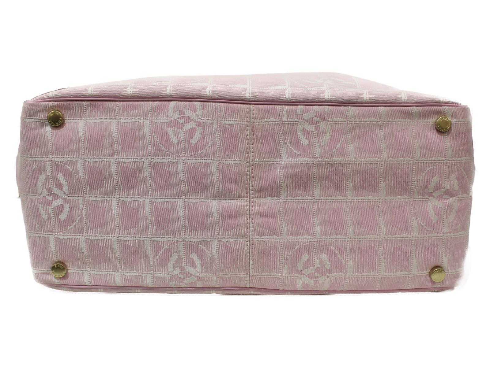 ギャラあり CHANEL ニュートラベルライントート トートバッグ ナイロンキャンバス ピンク レディース 軽い 大容量 プレゼント包装可F1cKJl