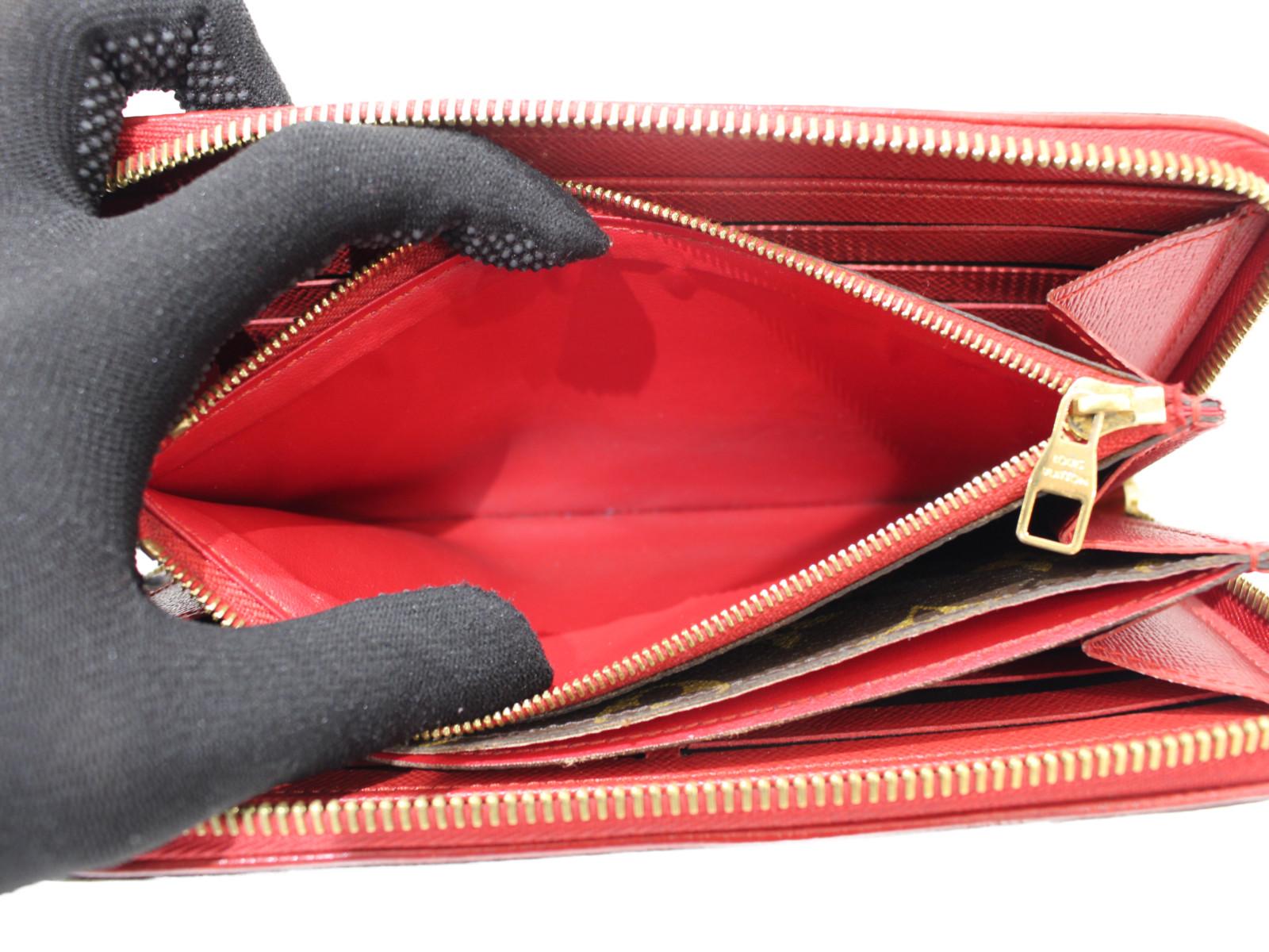 LOUIS VUITTON ジッピーウォレット・レティーロ M61854 モノグラム×レッド系 レディース 長財布 ウォレット シンプル プレゼント包装可VUSzMGqp
