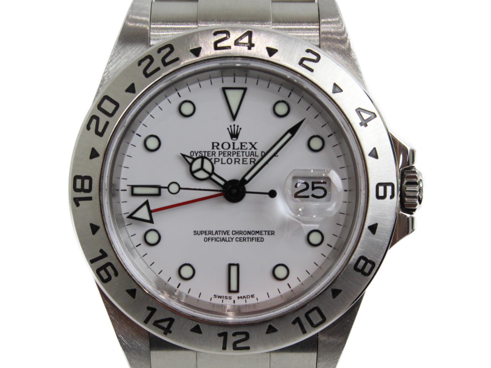 ROLEX ロレックス エクスプローラーII 16570 Y番 2003年 自動巻き GMT SS ホワイト メンズ 腕時計【中古】