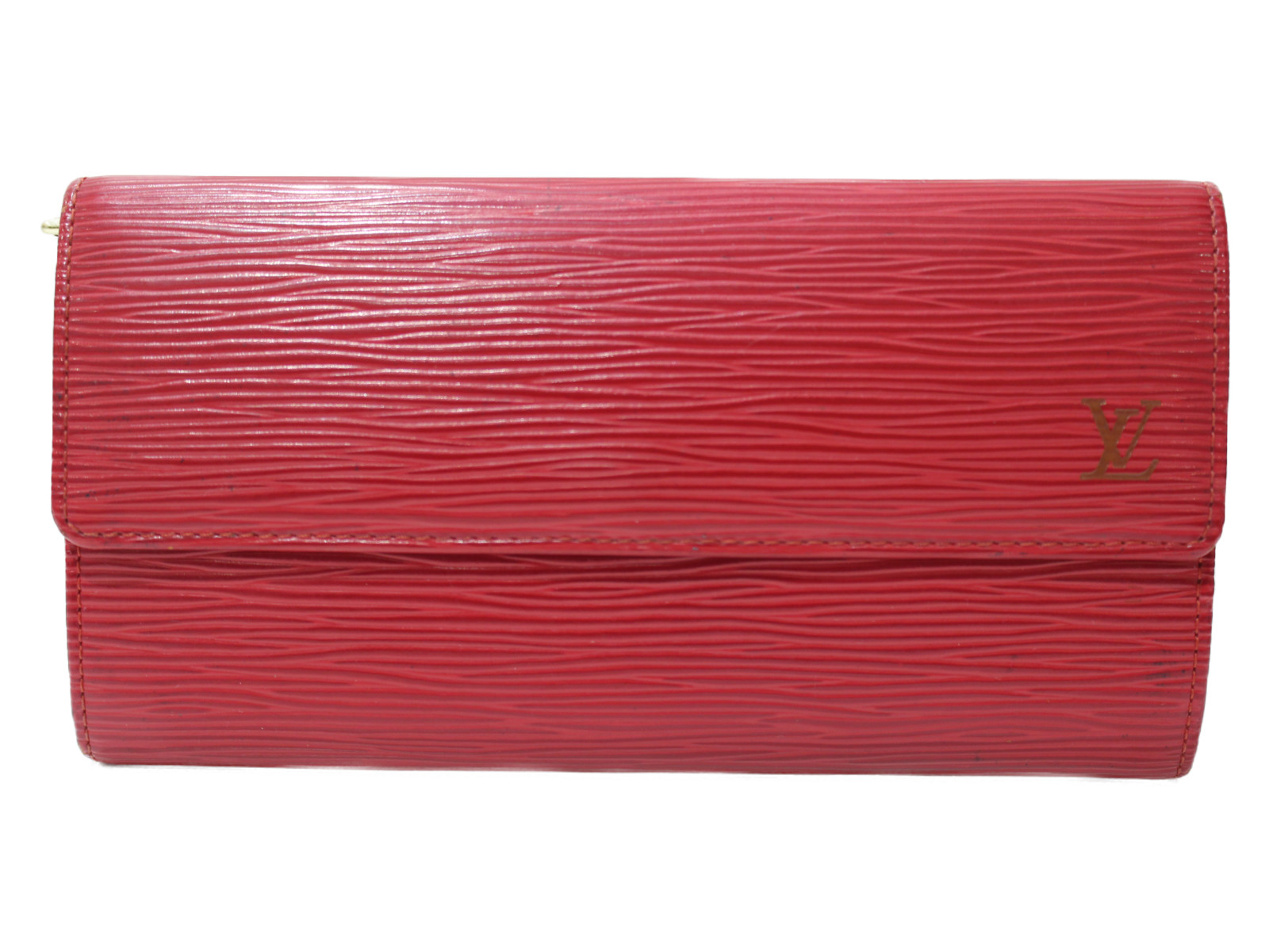 LOUIS VUITTON ポルトフォイユ・サラ M60316 エピ レッド系 レディース シンプル 長財布 ウォレット プレゼント包装可 【中古】