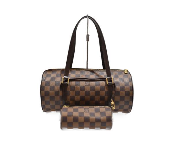 【中古品】 LOUISVUITTONパピヨン30 N51303 ダミエ・エベヌ コーティングキャンバス レディース バッグ ハンドバッグ 可愛い おすすめサイズ プレゼント包装可 中古  【中古】