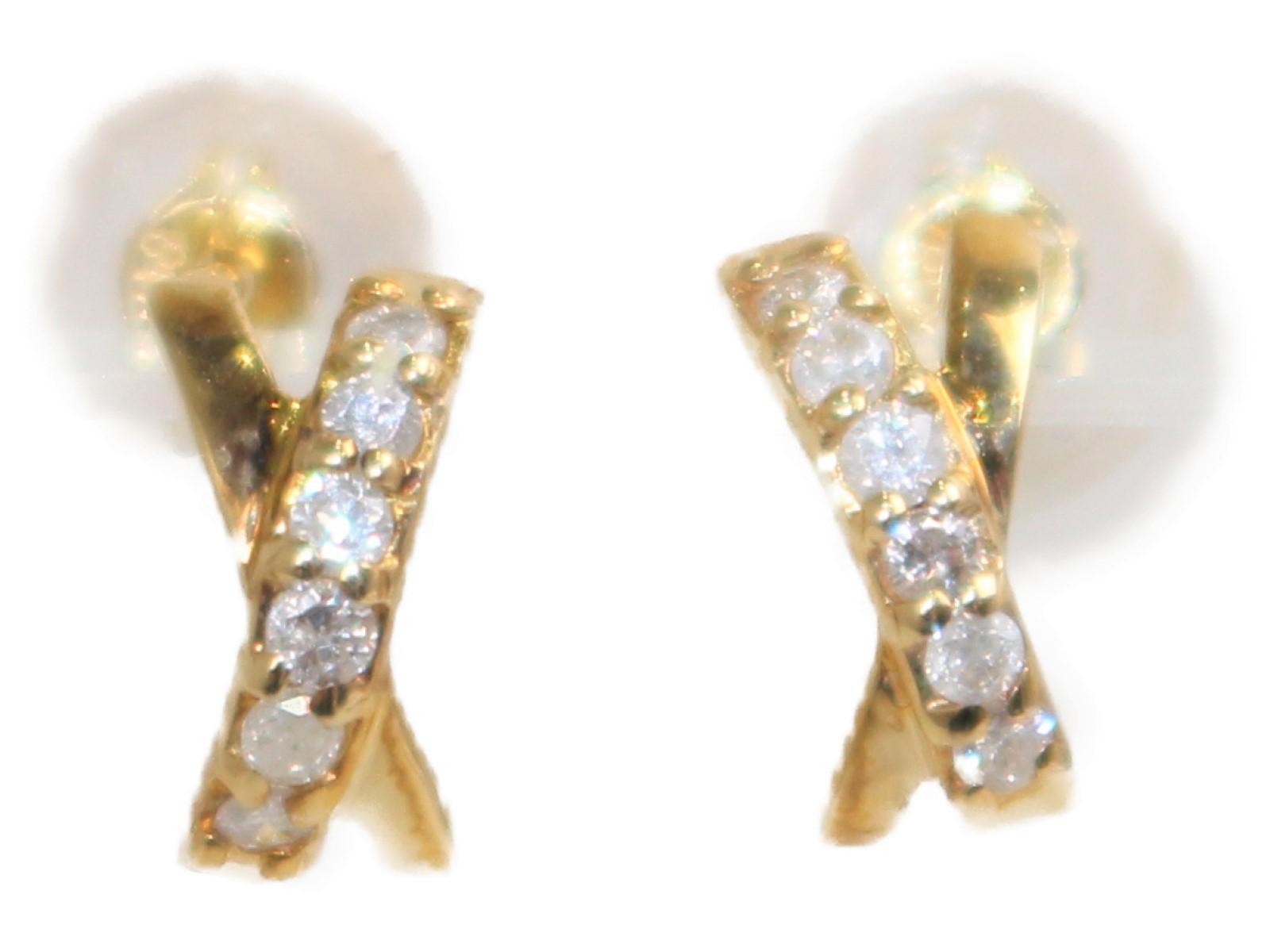 D0.10ctピアス K18 ダイヤモンド 0.5g レディース メンズ ウィメンズ プレゼント シンプル おしゃれ【中古】