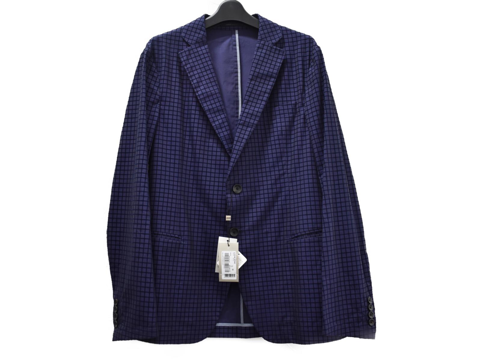 【中古品★】ARMANIジャケット VCG160VCS40 ブルー系 綿88% ポリアミド12% メンズ アパレル ジャケット おしゃれ 中古 シンプル ブルー系カラー【中古】