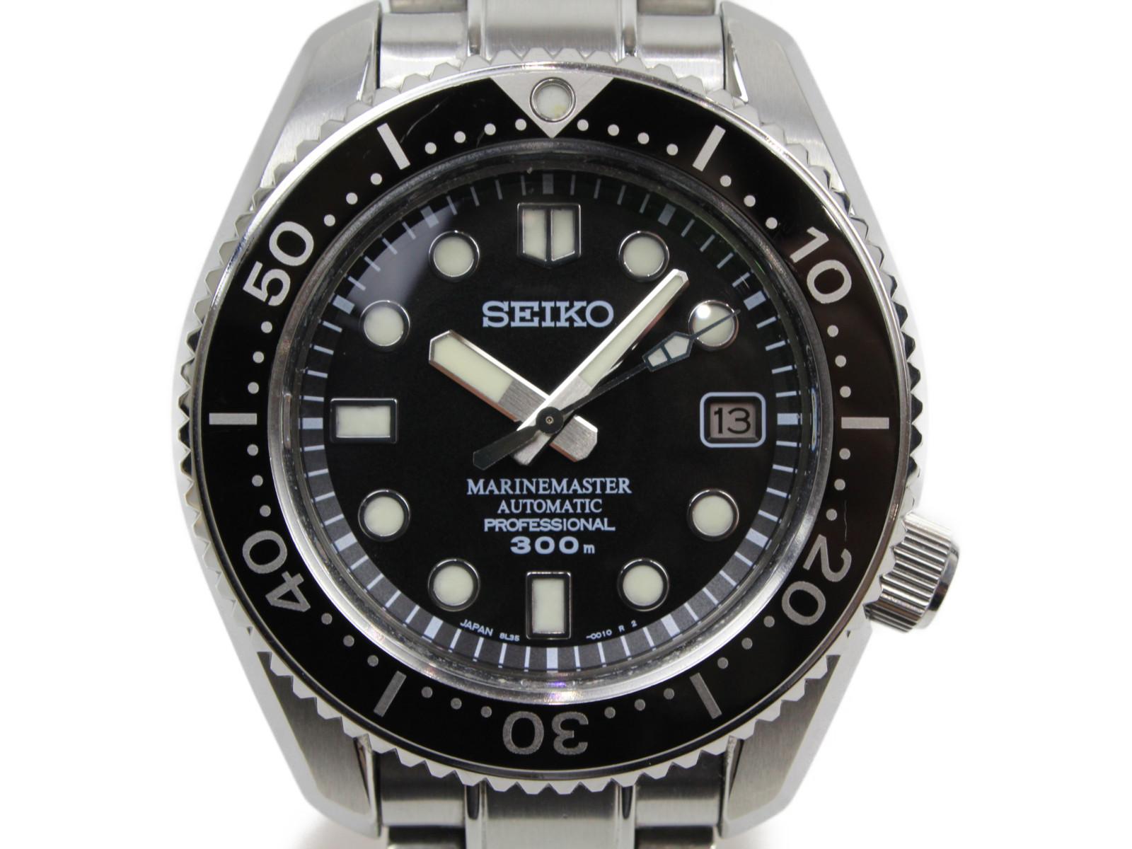 【替えベルト付】SEIKO セイコー プロスペック マリンマスター プロフェッショナル SBDX001 自動巻き デイト SS ラバー ブラック メンズ 腕時計【中古】