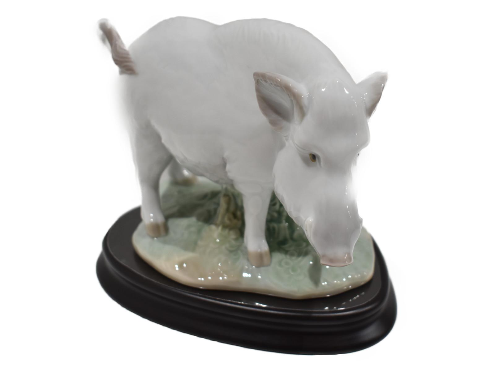 【☆十二支コレクション☆】LLADRO猪 陶器 LLADRO 陶器 インテリア 置物 雑貨 猪 十二支【中古】