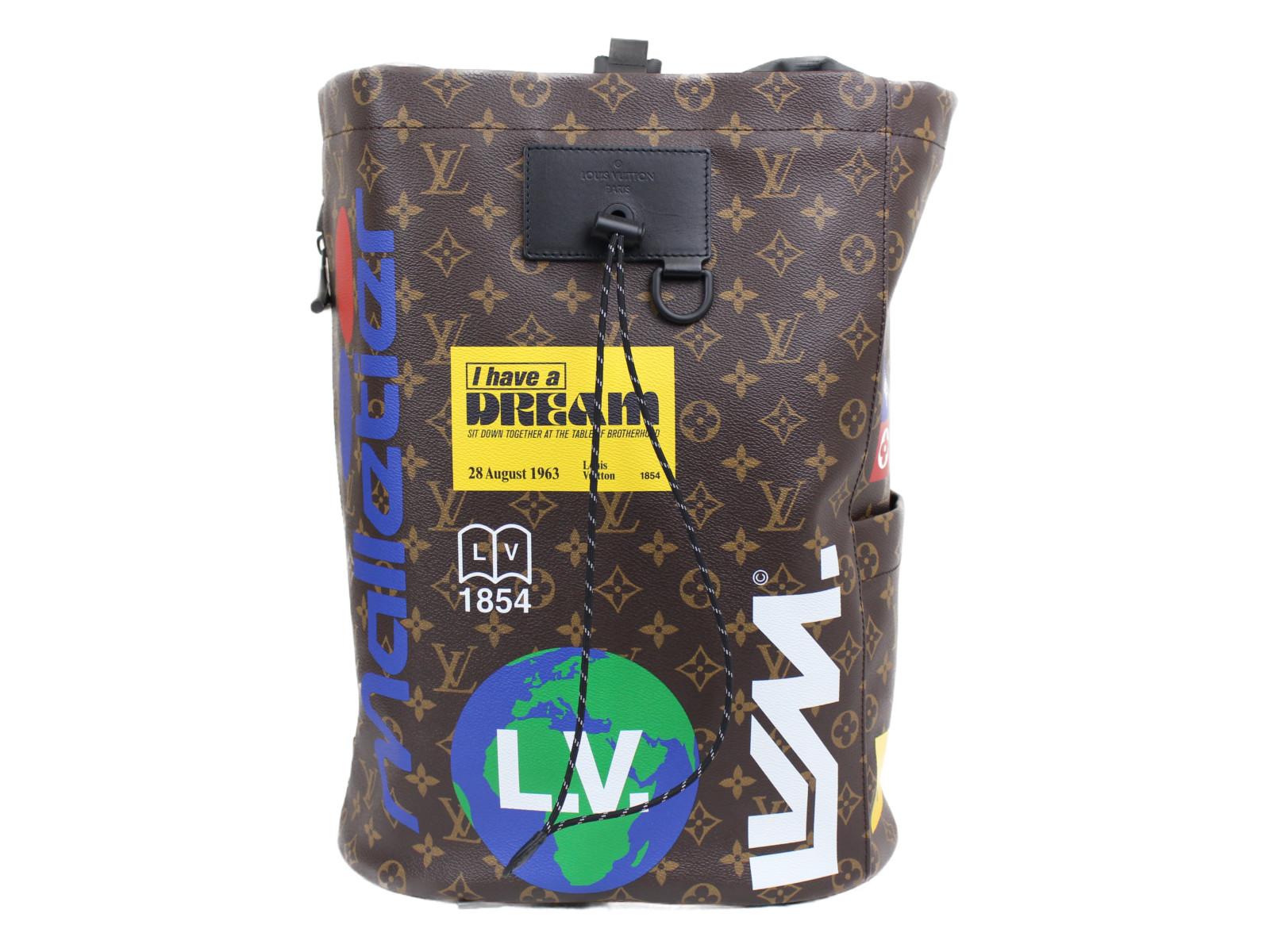 【☆未使用品☆】【布袋あり】LOUIS VUITTON チョーク・バックパック M44615 マロン モノグラムキャンバス メンズ リュック バックパック プレゼント包装可 【中古】