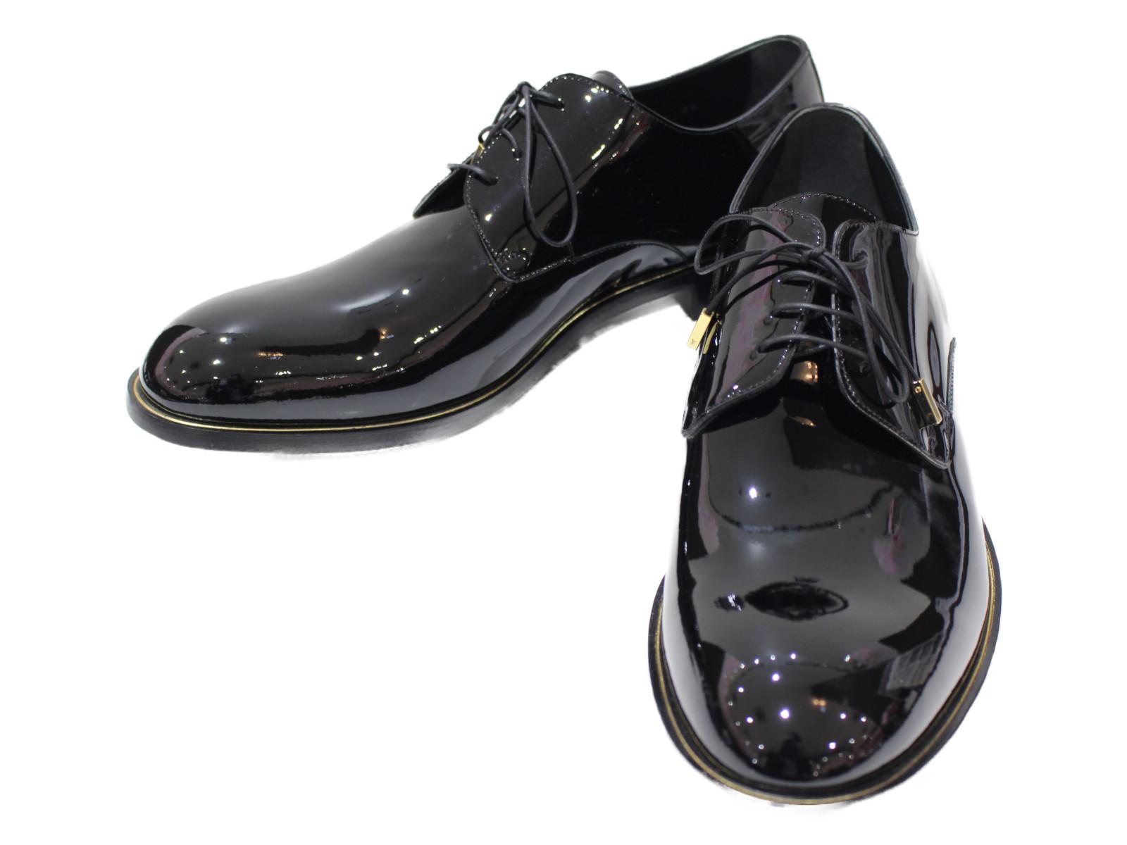 【☆未使用品☆】【箱・布袋あり】【レア商品】LOUIS VUITTON ラインダービー レザー ブラック メンズ 靴 革靴 プレゼント包装【中古】
