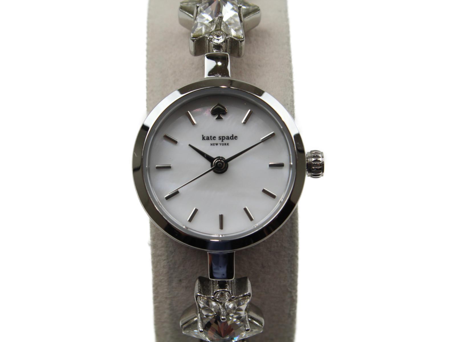 Kate spade ケイト・スペード KSW1392 クオーツ SS 星 スター シェル文字盤 ホワイト レディース 腕時計 【中古】