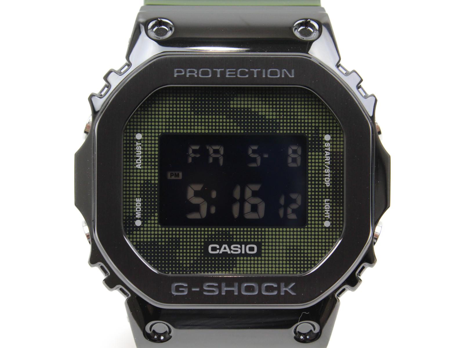 CASIO カシオ G-SHOCK ジーショック オリジン GM-5600B-3JF クオーツ デジタル SS ラバー 迷彩 ブラック カーキ メンズ 腕時計【中古】