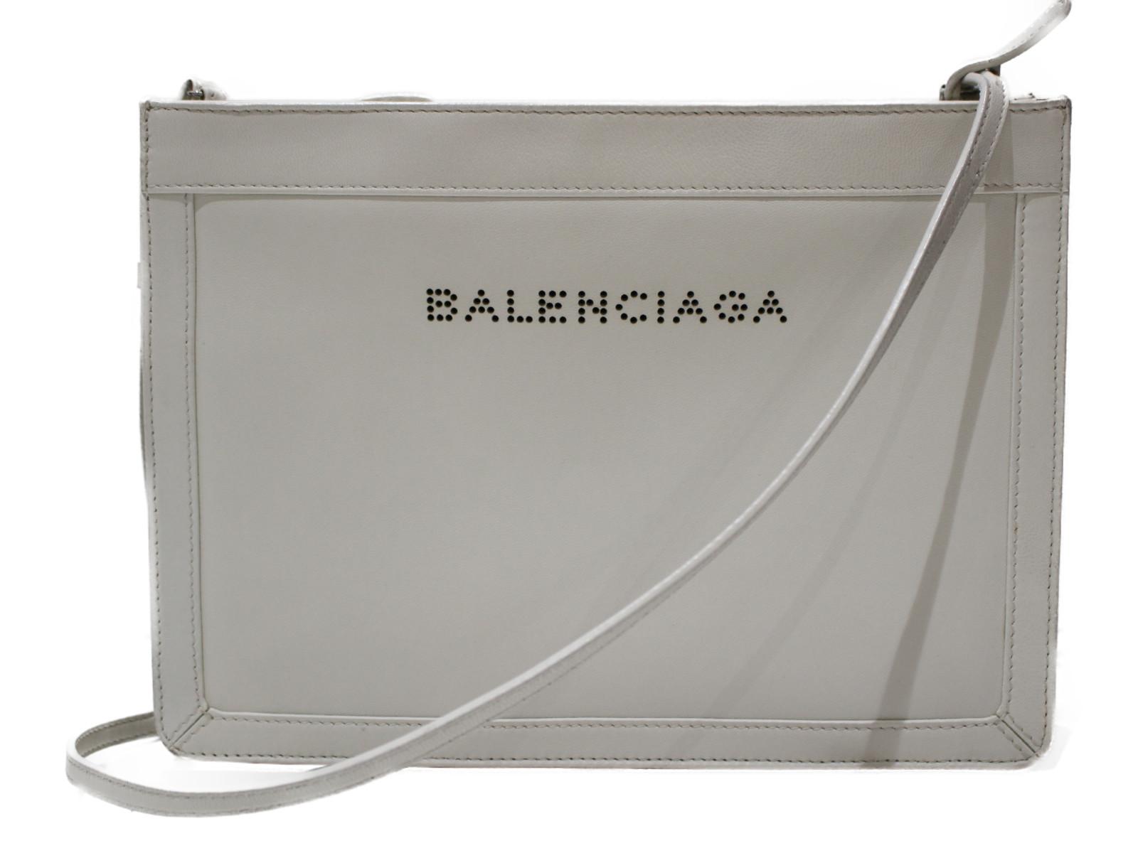 【布袋あり】BALENCIAGA レディース ギフト 【中古】 レザー シンプル 339937 ショルダーバッグ プレゼント包装可 ホワイト